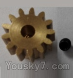 Wltoys L303 Spare Parts-57-03 P949-27 13T Motor Gear(13 Teeth)-hole diameter 3.17mm,M-0.8