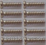 Wltoys L303 Spare Parts-58 Countersunk self tapping screws(10pcs)-1.7x8KB
