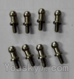 Wltoys L343 Spare Parts-17 inner hexagon Ball head Screws(8pcs)-3.5×M2.0×10.5