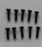 Wltoys L343 Spare Parts-20 Round head self-tapping screws(10pcs)-M2X8