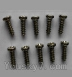 Wltoys L343 Spare Parts-22 Round head self-tapping screws(10pcs)-M3X8