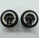 Wltoys L353 Spare Parts-02-02 Front wheel unit(2pcs)