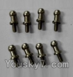 Wltoys L353 Spare Parts-17 inner hexagon Ball head Screws(8pcs)-3.5×M2.0×10.5
