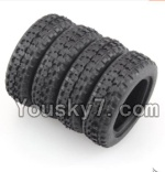 Wltoys P929 P939 Parts-07 Rally tire-4pcs- (27.5X8.5mm)
