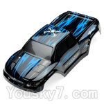 JYRC XinleHong Toys 9115 RC Car Parts-02 SJ02 Car canopy,Shell cover-Blue