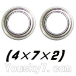 XinleHong Toys S911 Parts-WJ08 Bearing-4x7x2mm-2pcs