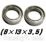 JYRC XinleHong Toys 9115 RC Car Parts-39 WJ10 Bearing- 8x13x3.5mm-2pcs