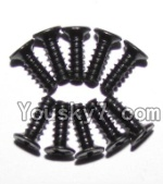 JYRC XinleHong Toys 9115 RC Car Parts-50 LS09 Round head screws(M2.6x7)-10PCS