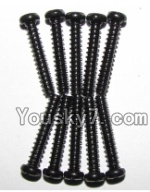 JYRC XinleHong Toys 9115 RC Car Parts-52 LS11 Round head screws(M2.6x15)-10PCS