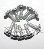 JYRC XinleHong Toys 9115 RC Car Parts-54 LS13 Round head screws with meson(M2.6x7x7)-10PCS