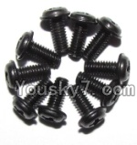 JYRC XinleHong Toys 9115 RC Car Parts-55 LS14 Round head screws with meson(M2.5x6x5)-10PCS