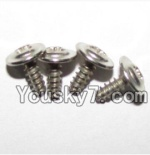 XinleHong Toys S911 Parts-LS15 Round head screws with meson(M3x8x8)-4PCS