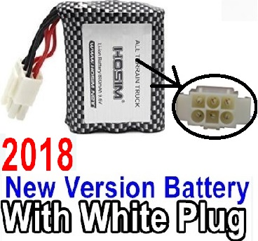 XinleHong Toys 9115 RC Car Parts-70-01 2018 New version 9.6V 800MAH Battery with White color plug