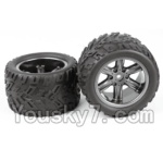 XinleHong Toys 9120 Parts-23-01 ZJ01 The Left and Right Wheel(Total 2pcs)