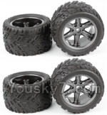 XinleHong Toys 9120 Parts-23-02 ZJ01 The Left and Right Wheel(Total 4pcs)