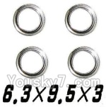 XinleHong Toys 9120 Parts-38 WJ09 Bearing-6.3x9.5x3mm-4pcs