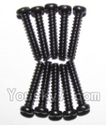 XinleHong Toys 9123 Parts-48 LS07 Round head screws(M2.3x12)-10PCS