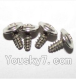 XinleHong Toys 9120 Parts-56 LS15 Round head screws with meson(M3x8x8)-4PCS