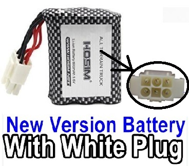 XinleHong Toys 9120 Parts-60-02 New version 9.6V 800MAH Battery with White color plug