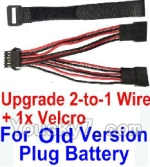XinleHong Toys 9120 Upgrade Parts Old version Upgrade 2-to-1 wire and Velcro-Two battery can be used together,Run 2x Time than usual