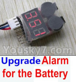 Hosim 9125 Parts Upgrade Alarm for the Battery,Can test whether your battery has enouth power
