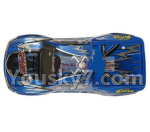 Hosim 9130 Parts-SJ01 RC Car canopy,Car Shell cover-Blue
