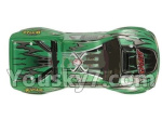Hosim 9130 Parts-SJ01 RC Car canopy,Car Shell cover-Green