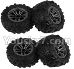 Hosim 9130 Parts-ZJ02 Whole wheel unit(4pcs)