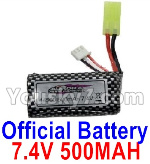 Hosim 9130 Parts-Official 7.4V 500mah Battery(1pcs)