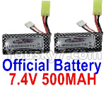 Hosim 9130 Parts-Official 7.4V 500mah Battery(2pcs)