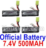 Hosim 9130 Parts-Official 7.4V 500mah Battery(4pcs)