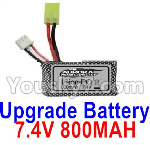 Hosim 9130 Upgrade Battery Parts-Upgrade 7.4V 800MAH Battery(1pcs)