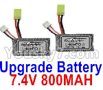 Hosim 9130 Parts-Upgrade 7.4V 800MAH Battery(2pcs)
