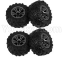 Hosim 9136 Parts-Whole wheel unit(4pcs)-ZJ02