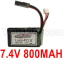 Hosim 9136 Parts-7.4V 800MAH Battery(1pcs)-DJ03