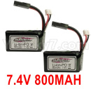 Hosim 9136 Parts-7.4V 800MAH Battery(2pcs)-DJ03
