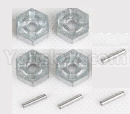 Hosim 9136 Parts-Hexagonal round seat adn Pin(Each 4pcs)-ZJ09