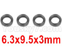 Hosim 9136 Parts-Bearing(4pcs)-6.3X9.5X3mm-WJ09