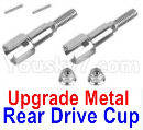 XinLeHong Toys 9137 Parts-Upgrade Metal Rear Drive Cup assembly(Original Plastic),Differential Cup(2pcs)-WJ04