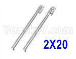 XinLeHong Toys 9145 Parts-Optical axis-2×20mm,Total 2pcs,45-WJ03