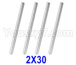 XinLeHong Toys 9145 Parts-Optical axis-2×30mm,Total 4pcs,45-WJ04