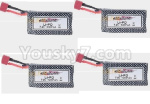 Hosim Q901 Parts-Battery-4pcs-QDJ02 Official 7.4V 1000mah battery(4pcs)