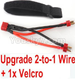 XinLeHong Toys 9135 Parts-Upgrade 2-to-1 wire and Velcro-Two battery can use together,Run 2x Time than usual