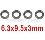 Hosim Q901 Parts-Bearing(4pcs)-6.3X9.5X3mm-WJ09