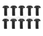 Hosim Q901 Parts-LS14 Round head screw(10pcs)-2.5x6x5PWMHO