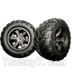 JYRC XinleHong Toys 9116 Parts-23-01 ZJ01 The Left and Right Wheel(Total 2pcs)