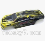 XinleHong Toys 9116 S912 RC Car Parts-67 SJ02 Car canopy,Shell cover-Yellow