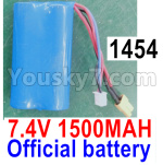 Wl-Model Wltoys 16800 Parts RC Battery Packs, 1454. Lithium Iron battery,7.4v 1500mah 15C Battery with XT30 Plug, Total 1pcs.