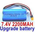 Wl-Model Wltoys 16800 Parts Upgrade Battery Packs, 1454. Upgrade 2200mah Lithium Iron battery, Upgrade 7.4v 2200mah 15C Battery with XT30 Plug, Total 1pcs.