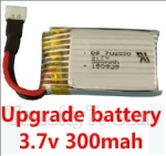 CG032 Parts-13 Upgrade 3.7v 300mah battery for the DFD F180C F180D Quadcopter(1pcs)